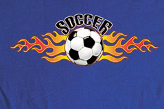 Pure Sport Long Sleeve Soccer T-Shirt: Soccer Flame