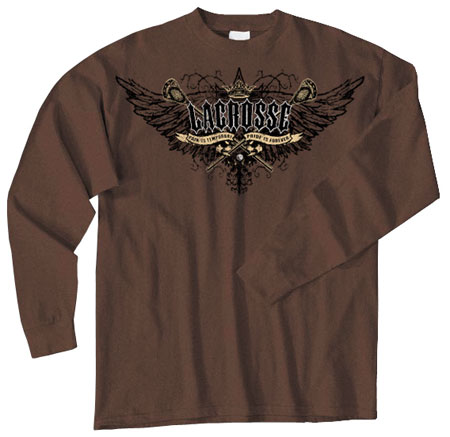 Pure Sport Long Sleeve Lacrosse T-Shirt: Pride with Wings
