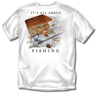 Coed Sportswear Fishing T-Shirt: It's All About Fishing