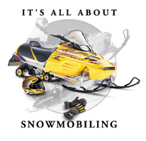 Coed Sportswear Snowmobiling T-Shirt: All About Snowmobiling