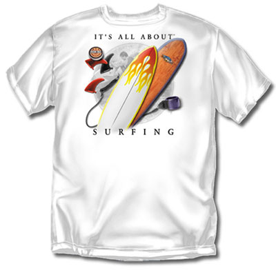 Coed Sportswear Surfing T-Shirt: All About Surfing