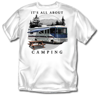 Coed Sportswear Camping T-Shirt: All About RV Camping
