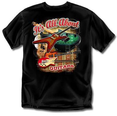 Coed Sportswear Guitar T-Shirt: All About Guitars Retro