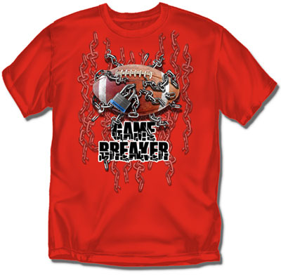 Coed Sportswear Youth Football T-Shirt: Game Breaker