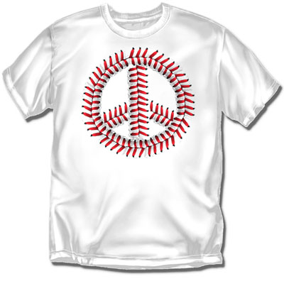 Coed Sportswear Youth Baseball T-Shirt: Peace Seams Baseball