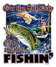 Pure Sport Fishing T-Shirt: 8th Day Fishing