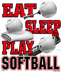 Pure Sport Softball T-Shirt: Eat Sleep Softball