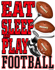 Pure Sport Football T-Shirt: Eat Sleep Football