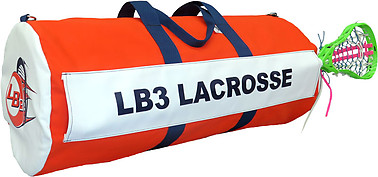 Canvas Custom Lacrosse Team Equipment Bag - X-Large with Sleeve (15