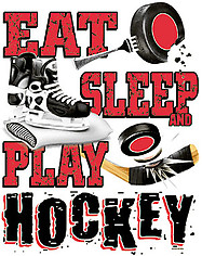 Long Sleeve Hockey T-Shirt: Eat Sleep Hockey
