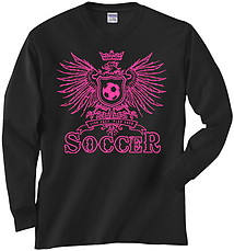 Long Sleeve Soccer T-Shirt: Girls Eagle Soccer