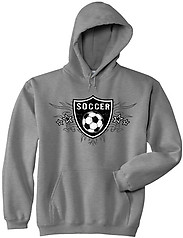 Pure Sport Hooded Soccer Sweatshirt: Soccer Shield