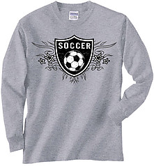 Pure Sport Long Sleeve Soccer T-Shirt: Soccer Shield