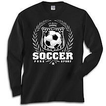 Long Sleeve Soccer T-Shirt: Soccer Laurel