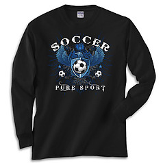 Pure Sport Long Sleeve Soccer T-Shirt: Soccer Eagle