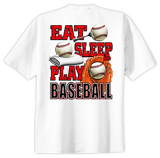 Pure Sport Baseball T-Shirt: Eat Sleep Baseball