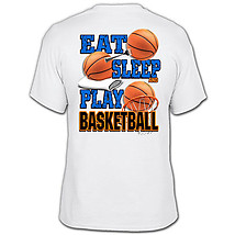 Basketball T-Shirt: Eat Sleep Basketball