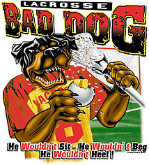 Lacrosse T-Shirt: Bad Dog Lacrosse