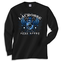 Pure Sport Long Sleeve Lacrosse T-Shirt: Lacrosse Eagle