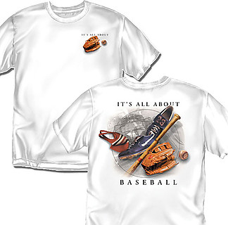 Coed Sportswear Baseball T-Shirt: It's All About Baseball