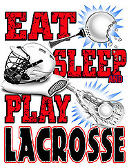 Pure Sport Lacrosse T-Shirt: Eat Sleep Lacrosse