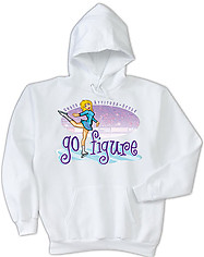 Hooded Figure Skating Sweatshirt: Go Figure