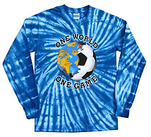Long Sleeve Soccer T-Shirt: Italy World Cup One World Tie Dye