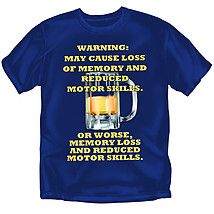 Drinking T-Shirt: Warning Memory Loss