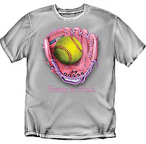 Softball T-Shirt: Pretty in Pink