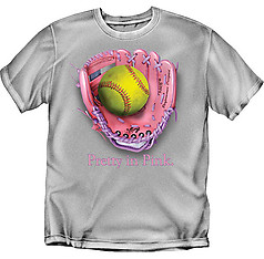 Coed Sportswear Softball T-Shirt: Pretty in Pink