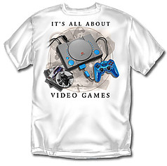 Coed Sportswear Youth Video Game T-Shirt: All About Video Games
