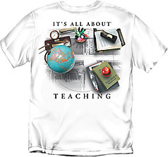 Coed Sportswear Teacher T-Shirt: All About Teaching