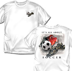 Coed Sportswear Soccer T-Shirt: It's All About Soccer