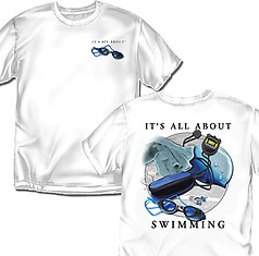 Coed Sportswear Swimming T-Shirt: All About Swimming