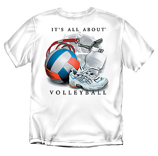 Coed Sportswear Volleyball T-Shirt: It's All About Volleyball