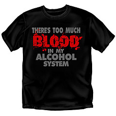 Coed Sportswear Drinking T-Shirt: Blood Alcohol