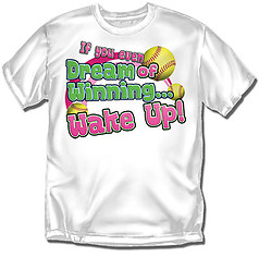 Coed Sportswear Youth Softball T-Shirt: Dream Winning Softball