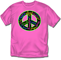 Coed Sportswear Youth Dance T-Shirt: Peace Words Dance