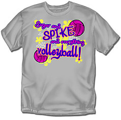 Coed Sportswear Youth Volleyball T-Shirt: Sugar Spike Volleyball