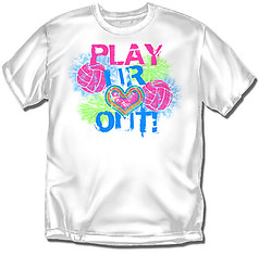 Coed Sportswear Youth Volleyball T-Shirt: Play Heart Out Volleyball