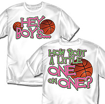 Coed Sportswear Basketball T-Shirt: One on One Basketball
