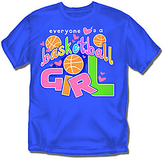 Coed Sportswear Youth Basketball T-Shirt: Everyone Loves Basketball