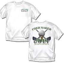 Golf T-Shirt: Coed Naked Golf
