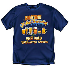 Coed Sportswear Drinking T-Shirt: Fight Global Warming