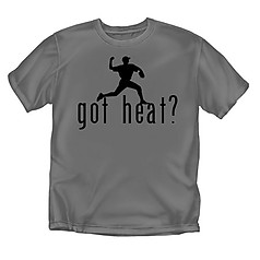 Coed Sportswear Baseball T-Shirt: Got Heat?