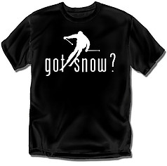 Coed Sportswear Skiing T-Shirt: Got Snow?