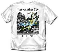 Coed Sportswear Fishing T-Shirt: Just Another Day