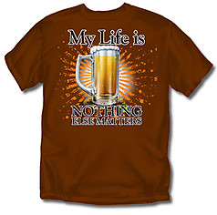 Coed Sportswear Drinking T-Shirt: My Life Beer