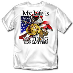 Coed Sportswear Firefighter T-Shirt: My Life Firefighting