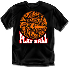 Coed Sportswear Youth Basketball T-Shirt: Play Ball Mosaic Basketball